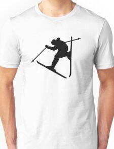 Freestyle skiing jump Unisex T-Shirt