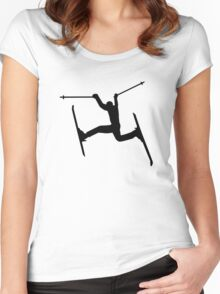 Crazy Freestyle skiing Women's Fitted Scoop T-Shirt