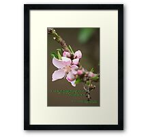 Strength in his promise; La Mirada, CA USA  Framed Print