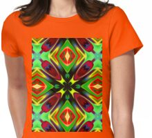 Kaleidoscope Pattern  Womens Fitted T-Shirt