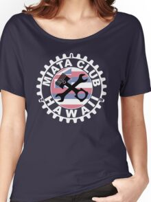 Miata Club of Hawaii White Graphic Print Women's Relaxed Fit T-Shirt