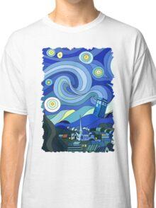 Starry Night Tardis Classic T-Shirt