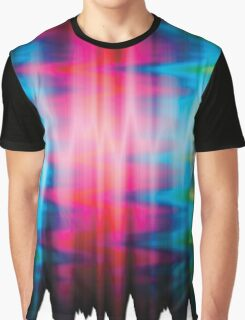 Psychedelic Rainbow Color Waves Graphic T-Shirt