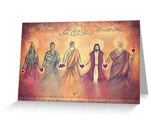 Lets 'Peace' Together Our world Greeting Card