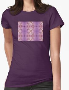 Purple Sky Branches Pattern Womens Fitted T-Shirt
