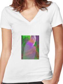 Exuberance Women's Fitted V-Neck T-Shirt