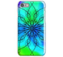 Blue and Green Mandala iPhone Case/Skin