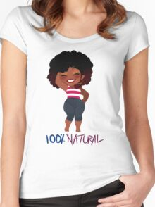 100% Natural - Ver. 1 Women's Fitted Scoop T-Shirt