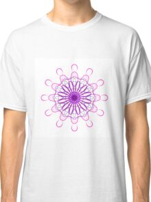 Black and Pink Mandala Classic T-Shirt