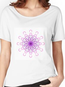 Black and Pink Mandala Women's Relaxed Fit T-Shirt