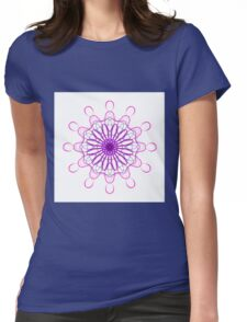 Black and Pink Mandala Womens Fitted T-Shirt