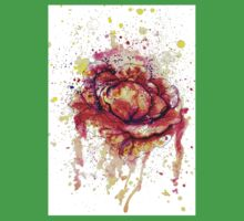 Colorful Cabbage Watercolor 2 One Piece - Short Sleeve