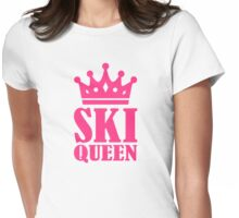 Ski Queen champion Womens Fitted T-Shirt