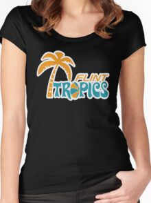 Flint Tropics Retro Women's Fitted Scoop T-Shirt