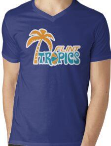 Flint Tropics Retro Mens V-Neck T-Shirt