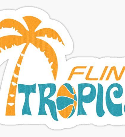 Flint Tropics Retro Sticker