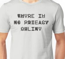 There Is No Privacy Online - ZXX v2 - Black Unisex T-Shirt