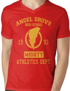 Angel Grove H.S. Mens V-Neck T-Shirt