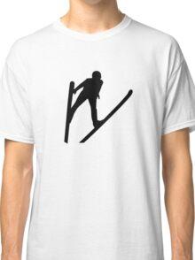 Ski jumper jumping Classic T-Shirt