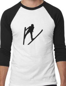Ski jumper jumping Men's Baseball ¾ T-Shirt