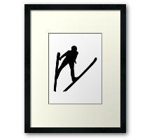 Ski jumper jumping Framed Print