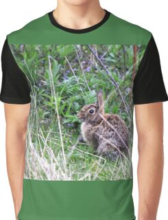 Eastern Cottontail in the Brush Graphic T-Shirt