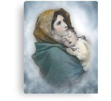 The Madonna, Nativity mother and child. Canvas Print