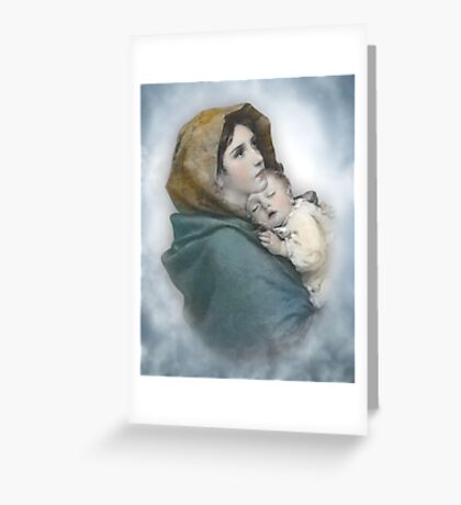 The Madonna, Nativity mother and child. Greeting Card