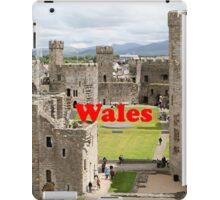 Wales: Caernarfon Castle, United Kingdom iPad Case/Skin