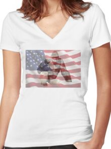 Harambe The American Dream T-Shirt Women's Fitted V-Neck T-Shirt