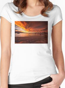 Mono Lake – Skies ablaze Women's Fitted Scoop T-Shirt