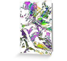 abstract glitch tech T Greeting Card