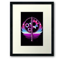 80's Cyber Brotherhood of Steel Fallout Emblem Framed Print