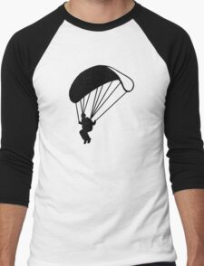 Skydiving parachutist Men's Baseball ¾ T-Shirt