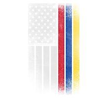 Colombian American Flag - Half Colombian Half American  Photographic Print