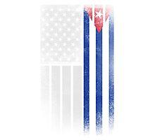 Cuban American Flag - Half Cuban Half American Photographic Print