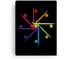Skateboard Colour Wheel Canvas Print