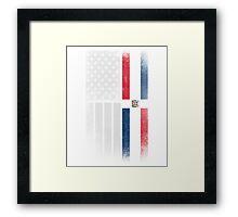Dominican American Flag - Half Dominican Half American  Framed Print