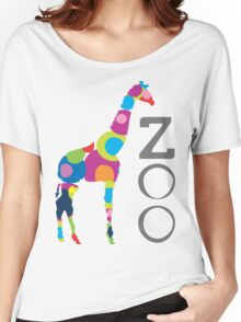 giraffe rainbow Women's Relaxed Fit T-Shirt