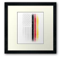 German American Flag - Half German Half American Framed Print