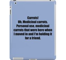 Medicinal Carrots iPad Case/Skin