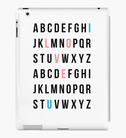 Alphabet Love iPad Case/Skin