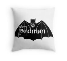 Badman Throw Pillow