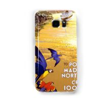 Vintage Portugal and Brazil Cruise Travel Samsung Galaxy Case/Skin