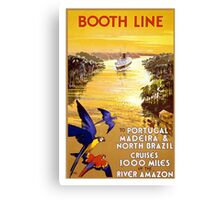 Vintage Portugal and Brazil Cruise Travel Canvas Print
