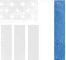 Greek American Flag - Half Greek Half American Sticker