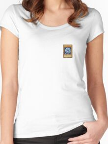 Yu Gi Oh Blue Eyes White Dragon Women's Fitted Scoop T-Shirt
