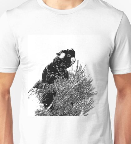 ~ Yellow-tailed black cockatoo ~ Unisex T-Shirt