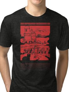 Adventure Awaits (Red) Tri-blend T-Shirt