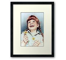 Sherry with Daisies Framed Print